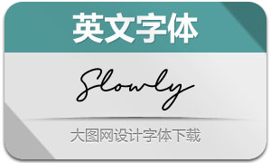 SlowlySignature(英文字体)