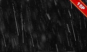 下雨情景后期合成适用叠加素材集V17
