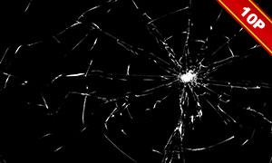 破碎裂开效果玻璃免抠高清图片素材