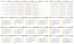 2022年虎年日歷條設計模板矢量素材